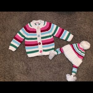 Baby Gap 6-12 month sweater and hat set